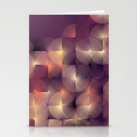 Chameleonic Written Circles - Colours from Abstract VIII by Sabine Doberer Stationery Cards