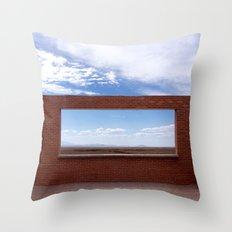 Window into the Plains Throw Pillow