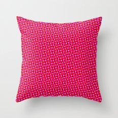PINK DOT & STAR  Throw Pillow