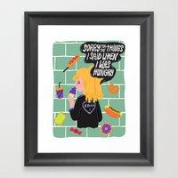 Hangry Framed Art Print