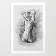 After shower Art Print