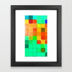 Concentric Squares Framed Art Print
