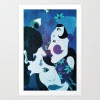 Ladies Blue Art Print