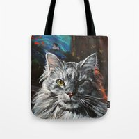 Two Faces of the Main Coon Cat Tote Bag