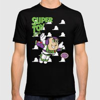 Super Toy Bros. Mens Fitted Tee Black SMALL