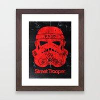 BEAST Street Trooper Head (Vintage Teal) Framed Art Print