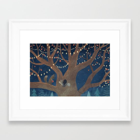 Put the lights on the tree Framed Art Print