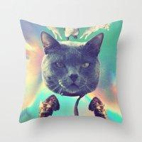 galactic Cats Saga 3 Throw Pillow