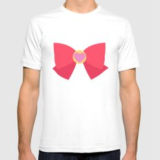 Sailor Chibi Moon Bow Mens Fitted Tee White SMALL