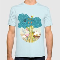 Insect Sushi Mens Fitted Tee Light Blue SMALL