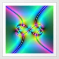 Neon Love Knots Art Print