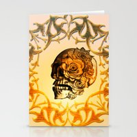 sugar skull Stationery Cards featuring Sugar skull by nicky2342