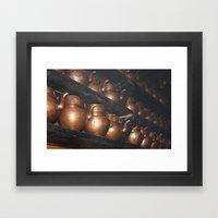 Copper Pitchers Framed Art Print