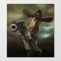 Rick Grimes From 'The Wa… Canvas Print
