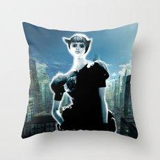 Kitten Jeanne Throw Pillow