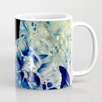 hidden blue peony Mug