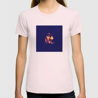 Blue Fire Womens Fitted Tee Light Pink SMALL