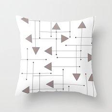 Lines & Arrows Throw Pillow
