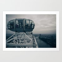 Urban Places - London Eye Art Print