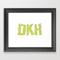 DKH (logo) Framed Art Print