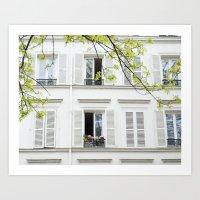 White, White Windows Art Print