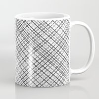 Weave 45 Black And White Mug
