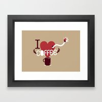 Ok, I Love. Framed Art Print