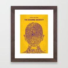 No439 My The Bourne identity minimal movie poster Framed Art Print
