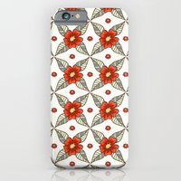 Guild of flowers and leaves iPhone 6 Slim Case