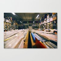Record Hunting Canvas Print