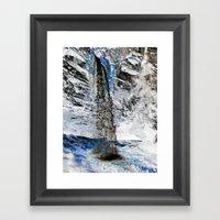 Ice Melt Framed Art Print