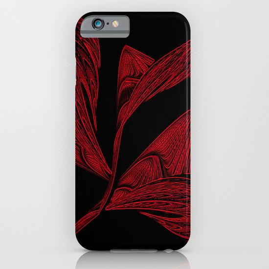 Embroidered Flower in Red iPhone & iPod Case