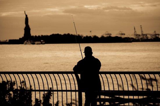 NYC fishing Art Print