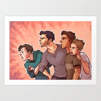 Scott McCall Defense Squad Art Print