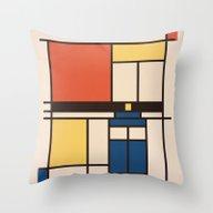 Mondrian Who Throw Pillow