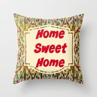 Stained Glass Home Sweet Home  Throw Pillow