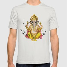 Ganesha Mens Fitted Tee Silver SMALL