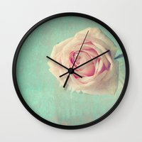 Mint Rose  Wall Clock