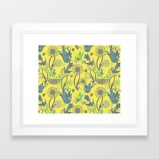 Birds and Acorns Framed Art Print