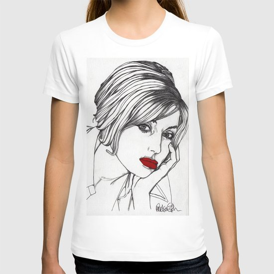 Girl With The Mont Blanc T-shirt