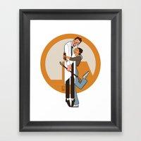 Lambda Is For Love Framed Art Print