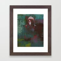 Girl With The Dragon Tat… Framed Art Print