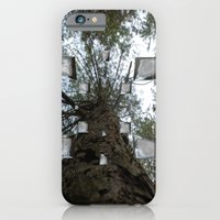 iPhone & iPod Case featuring Glassy forest by Arminas Ruzgas
