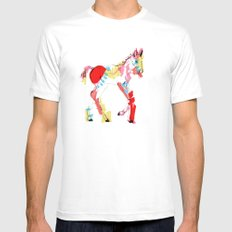 Baby horse colour White SMALL Mens Fitted Tee