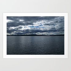 Clouds Over Yellowstone Lake Art Print