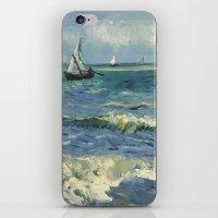 Seascape near Les Saintes-Maries-de-la-Mer by Vincent van Gogh iPhone & iPod Skin
