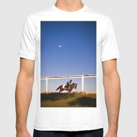 A Rider And A Horse Mens Fitted Tee White SMALL