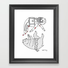 On the bear's uncontrollable urge to toss his master in the air Framed Art Print