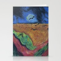 Crows Over A Wheat Field and Calvin Stationery Cards