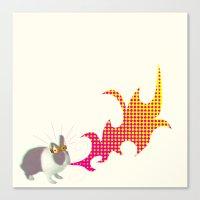 Rabbit King Canvas Print